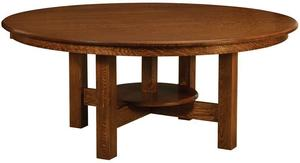 Amish New Albany Round Trestle Dining Table