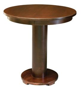 Amish Round Contemporary Barrel Bistro Table