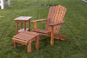 Amish Made Cedar Wood Adirondack Chair with Optional Ottoman