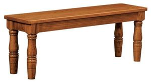 Amish Handcrafted French Country Farmhouse Extension Dining Bench