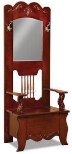 Amish Fancy Ellis Hall Seat Storage Bench