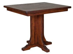 Amish Clifton Gathering Counter Height Single Pedestal Table