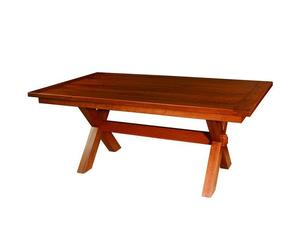 Frontier Plank Top Trestle Table