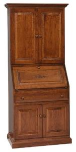 Amish Deluxe Secretary Desk with Hutch Top