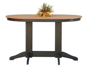 Amish Oval Poly Pub Table
