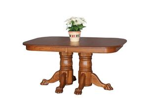 Amish Newport Double Pedestal Dining Table