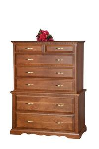 """Amish 42"""" Chest on Chest of Drawers"""