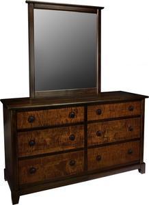 Amish Chesapeaka 6-Drawer Dresser with Optional Mirror