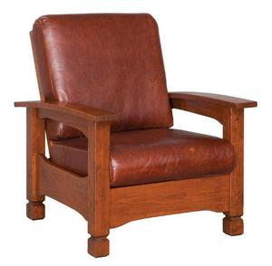 Amish Rustic Country Mission Morris Chair