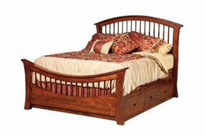 Amish Amber Storage Bed