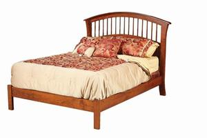 Amish Amber Bed with Low Footboard