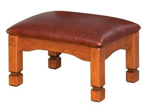 Amish Rustic Country Mission Morris Ottoman