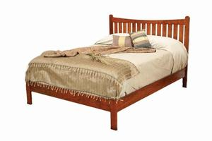 Amish Portland Low Footboard Bed