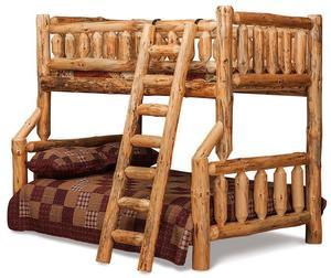 Amish Rustic Log Bunk Beds