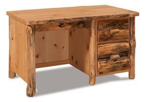 Amish Log Single Pedestal Writing Desk