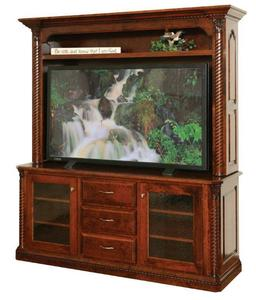 """Amish Lexington 68"""" TV Stand with Optional Hutch"""
