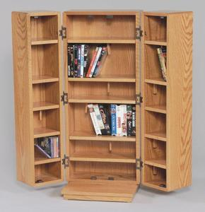 Amish Made Medium Sized CD/DVD/BluRay Cabinet with Doors
