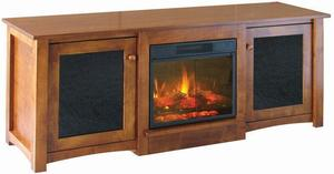Amish Flint Electric Fireplace TV Stand