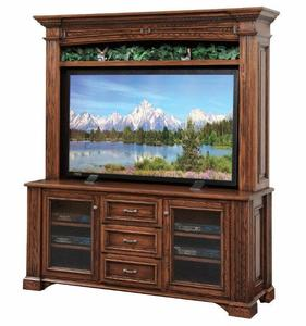 "Amish Lincoln 68"" TV Stand with Optional Hutch Top"