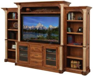 Jefferson Solid Wood Entertainment Center