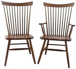 Amish Buckeye Straight Back Chair