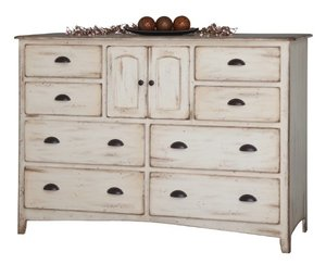 """Amish Concord 44"""" High Dresser with Optional Mirror"""