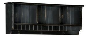 "Amish 48"" Pine Hall Shelf with Three Hooks"