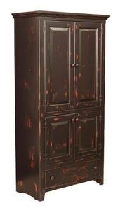 Amish Georgetown Pine Pantry Pie Safe Cabinet