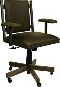 Omni Amish Office Chair with Leather Seat and Back