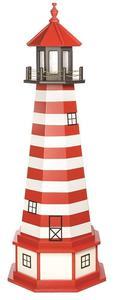 Amish West Quoddy Hybrid Yard Lighthouse with Base