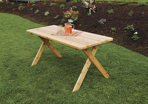 Amish Cedar Wood Crossleg Table