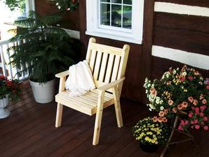 Amish Pine Wood Traditional English Dining Chair