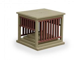 Finch Poly Mission Umbrella Stand End Table