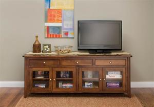 Amish Springfield TV Stand with Glass Doors