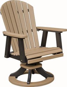 Berlin Gardens Comfo-Back Swivel Rocker Poly Dining Chair