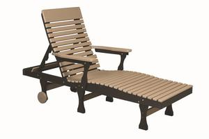 Berlin Gardens Casual-Back Poly Chaise Lounge