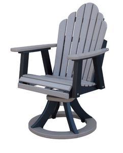Berlin Gardens Cozi-Back Poly Swivel Rocker Dining Chair
