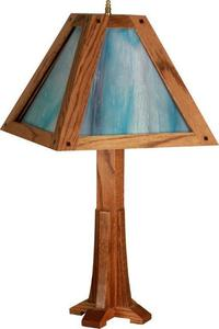 Amish Mission Stained Glass Lamp