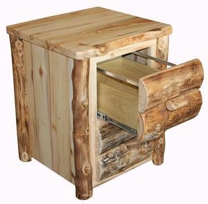 Amish Rustic Log File Cabinet