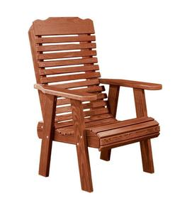 Amish Cedar Wood Lounge Chair