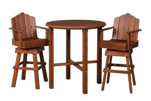 Amish Cedar Wood 3 Piece Bistro Dining Set