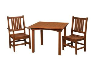 Amish Cedar Wood Square Table and Chair Set