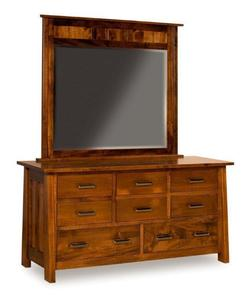 Amish Payette Mission Dresser with Eight Drawers and Optional Mirror