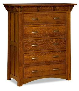 Amish Milwaukee Mission Chest of Drawers