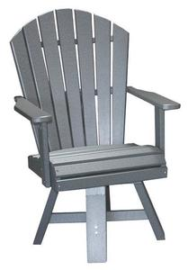 Amish Seaside Swivel Poly Composite Dining Chair