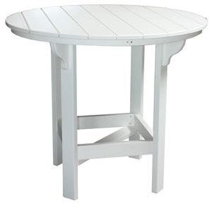 Amish Seaside Round Poly Composite Party Bar Table with Optional Ice Bowl Center