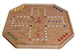 Amish Wooden Reversible Aggravation Board Game 4 to 6 Players