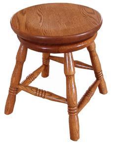 """Amish Oak Wood 18"""" Swivel Bar Stool"""