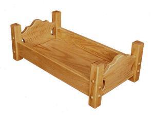 Amish Oak Wood Doll Bed