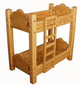 Amish Hardwood Doll Bunk Bed